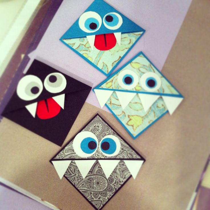 Mes beaux petits signets monstre! Très belle idée cadeau et amusant à faire!