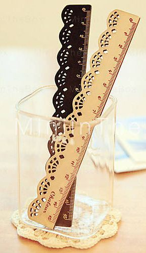 Laser cut ruler great for the office or sewing room, pretty design.