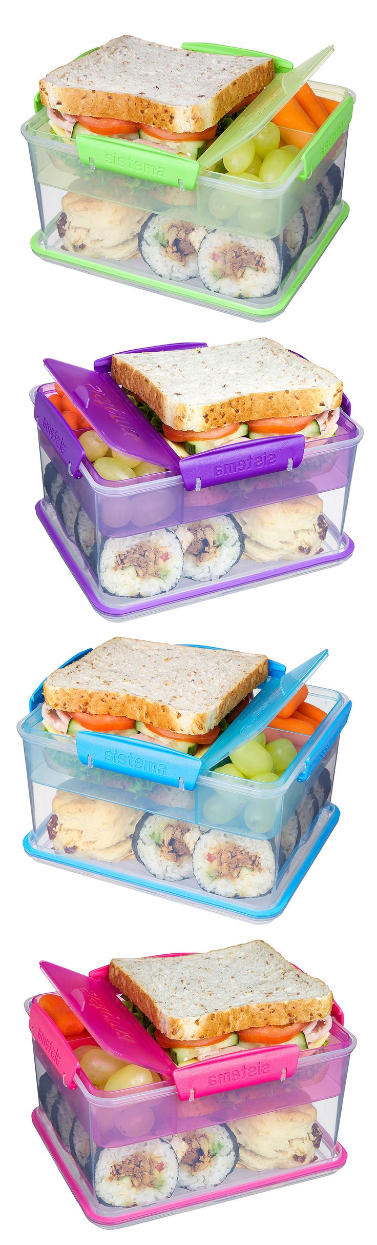 Lunch-to-Go Box ❤︎ Compact With Separate Compartments to keep food fresh & from getting soggy