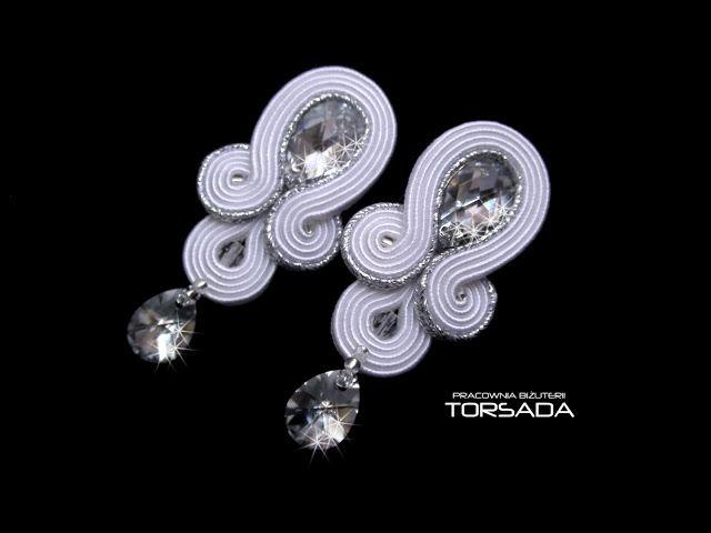 Kolczyki ślubne ASTRAJA kryształy | TORSADA