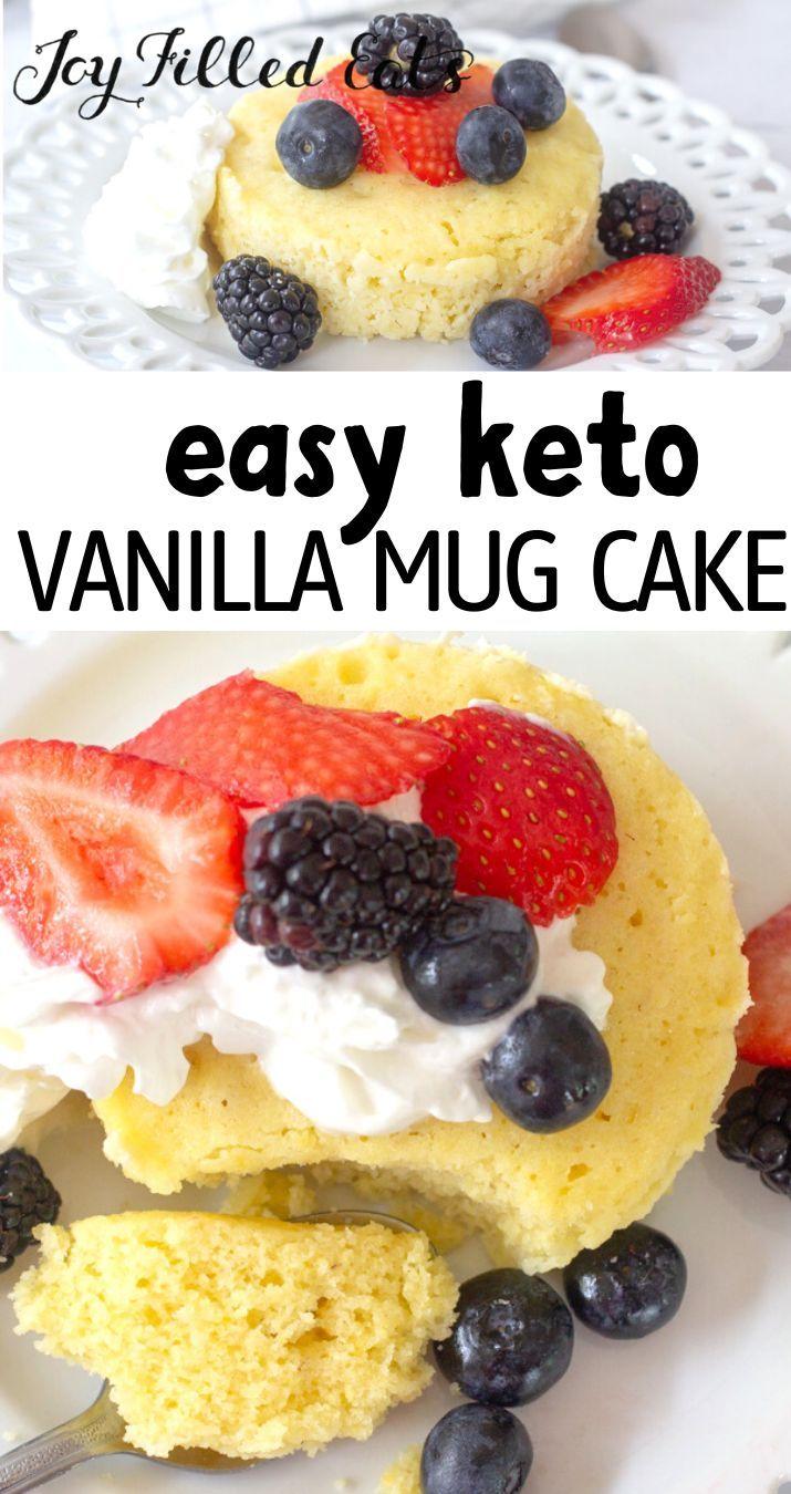 Keto Vanilla Mug Cake - Low Carb, Gluten-Free, EASY - Joy ...