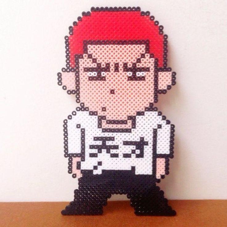 #perler #perlerbeads #hama #hamabeads #handmade #pixel #pixelart #anime #slamdunk #hanamichisakuragi