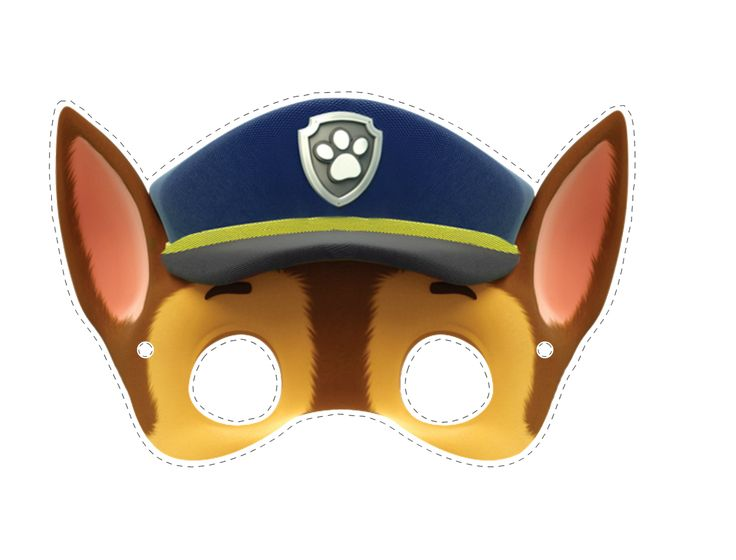 Máscara da Patrulha Canina