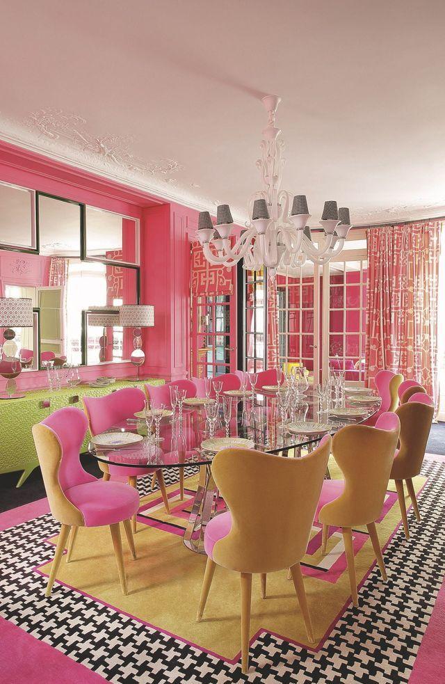 600+ best colorful interiors images by Marianne on Pinterest - wohnzimmer rosa streichen