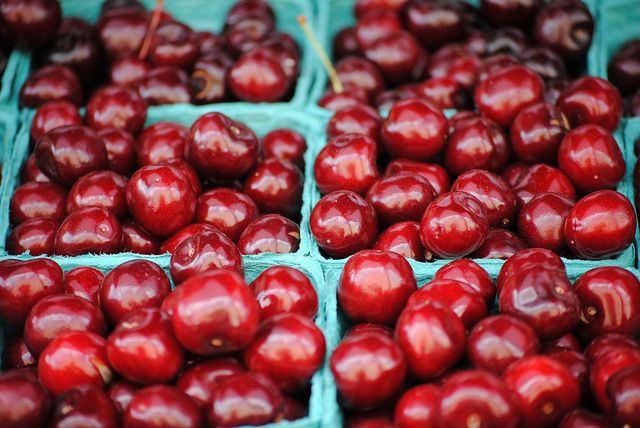 Cherry-picking season is upon us. These little stoney reds will most likely be at several farmers market stands in the next few weeks. An ekelly80 photo makes a weekend appearance again (coincidentally) with these late spring-early summer fruits.