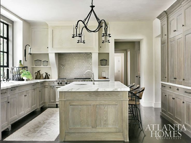 Gray Stained Washed Hickory Cabinets House Pinterest And Kitchens