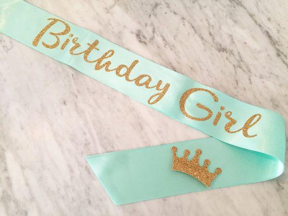 birthday sash birthday girl sash (white!!!!)