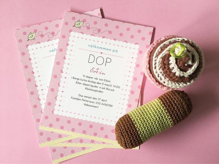 Dop? Namngivning? Välkomstfest? Beställ korten hos oss! . tryckstudion #inbjudningskort #dop…