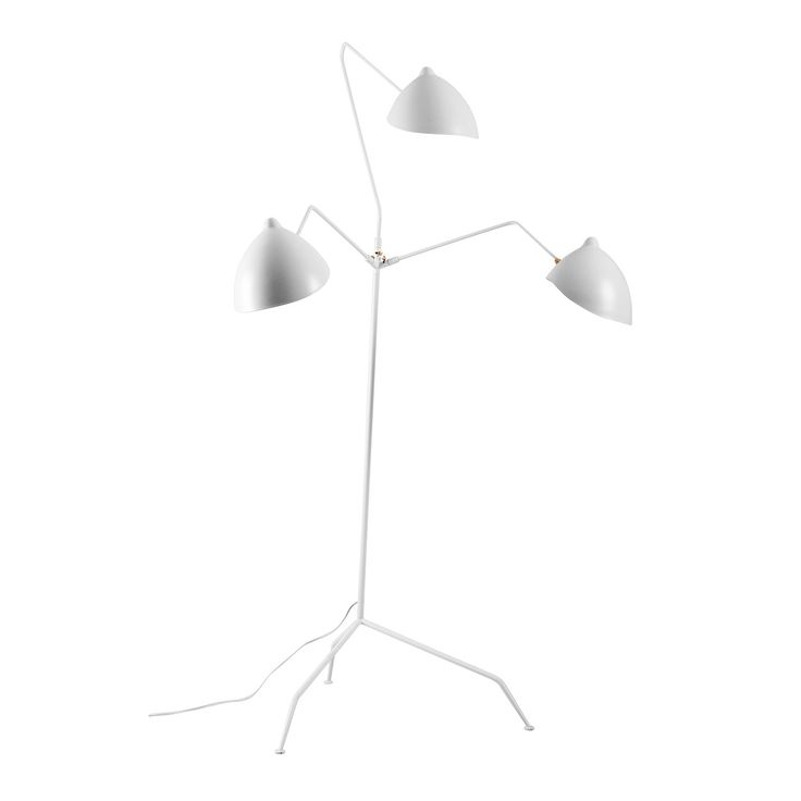 MFL-3 Standing Lamp - Three Arm - White  http://www.franceandson.com/mid-century-modern-mfl-3-standing-lamp-three-arm-white.html