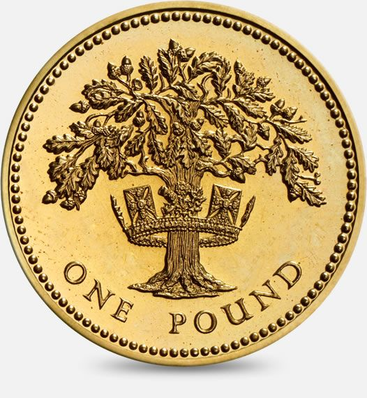 1987 & 1992 Oak Tree and royal diadem England £1 (One Pound) Coin #CoinHunt