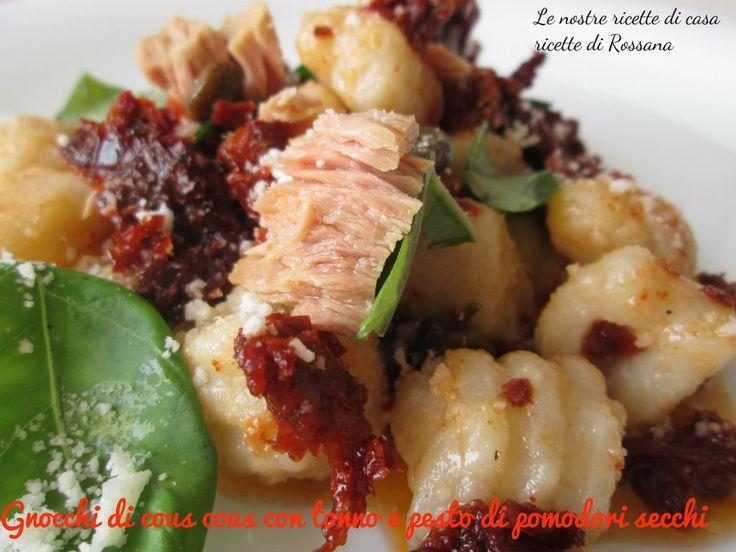 Gnocchi di cous cous con tonno e pesto di pomodori secchi