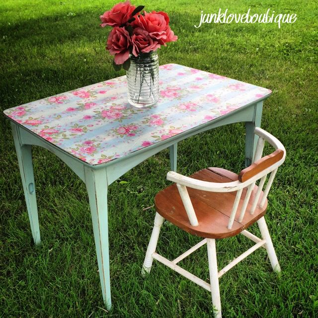 floral decoupage furniture. Floral Decoupage End Table; Could Also Be Used As A Little Girl\u0027s Tea Party Table Furniture