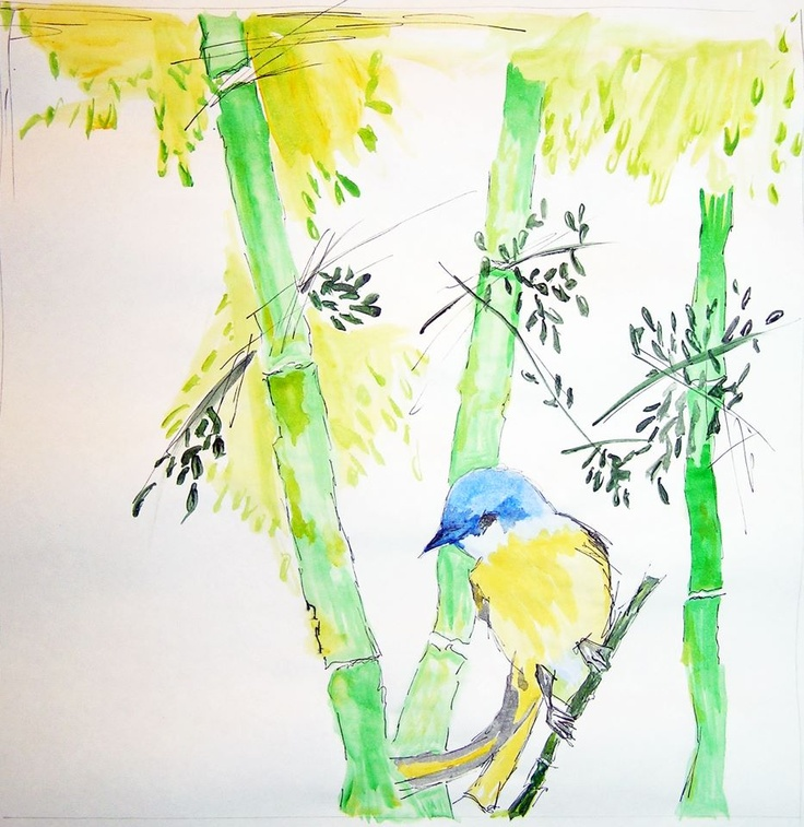 watercolor and ink on paper...www.2designandother.com