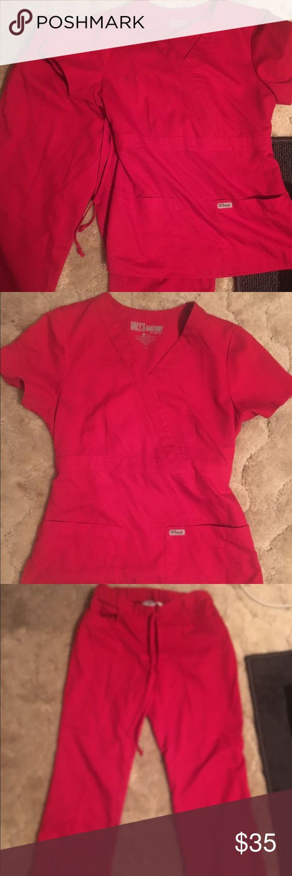 Grey's anatomy scrubs Small set of red Grey's Anatomy scrubs. Excellent shape. Regular length. Other