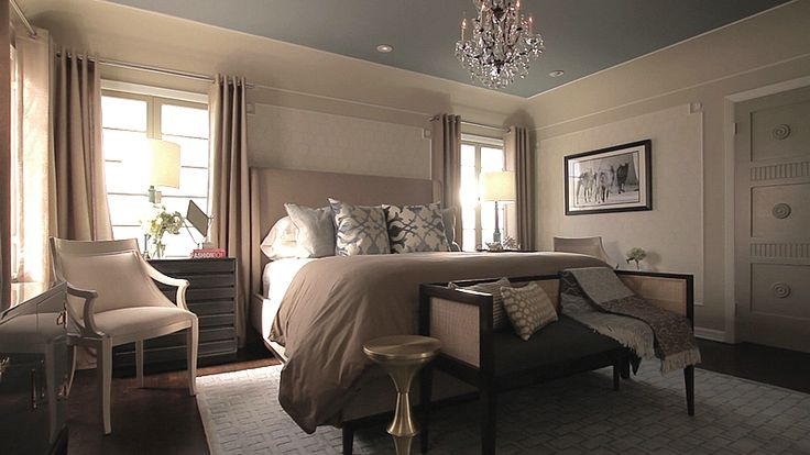 by Jeff Lewis Design. I really like the color on the ceiling.