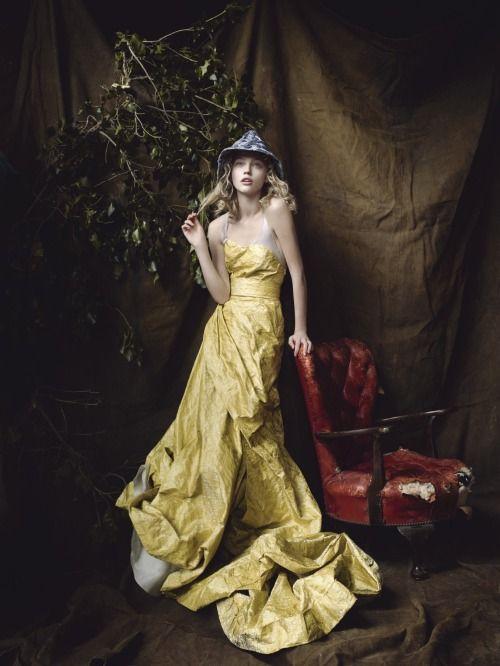 Sasha Pivovarova photographed by Mario Testino for the December 2007 issue. Mario Testino: Vogue Archive