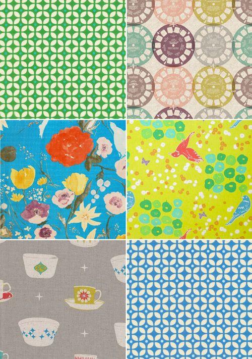 .Fabrics Prints, Colors Mixed, Textiles, Mondaysmilk, Vintage Pattern, Awesome Fabrics, Fabrics Rainbows, Colors Overload, Fabrics Pattern