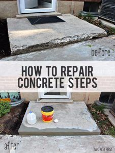 33 Home Repair Secrets From the Pros - Fixing Chipped Concrete Steps - Home Repair Ideas, Home Repairs On A Budget, Home Repair Tips, Living Room, Bedroom, Kitchen Repair, Home Improvement, Quick And Easy Home Tips http://diyjoy.com/diy-home-repair-secrets