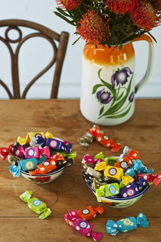 Fun, colourful wrapping, lets add your personal brand and you have the perfect party favour. www.anna-lize.co.za