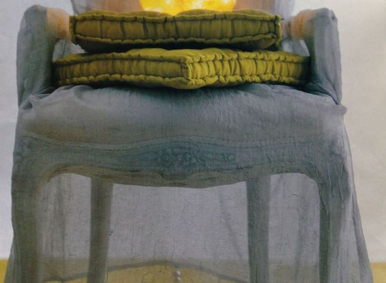 Armchair cover soft like a feather Made in Bettina Nagel