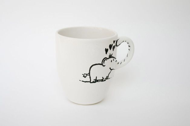 This cup adorns an elephant, which you can hold on to its trunk. + Dishwasher-proof up to 50 degrees + * !! order up to four cups of and pay only once shipping !! * ** Size / Dimensions /...