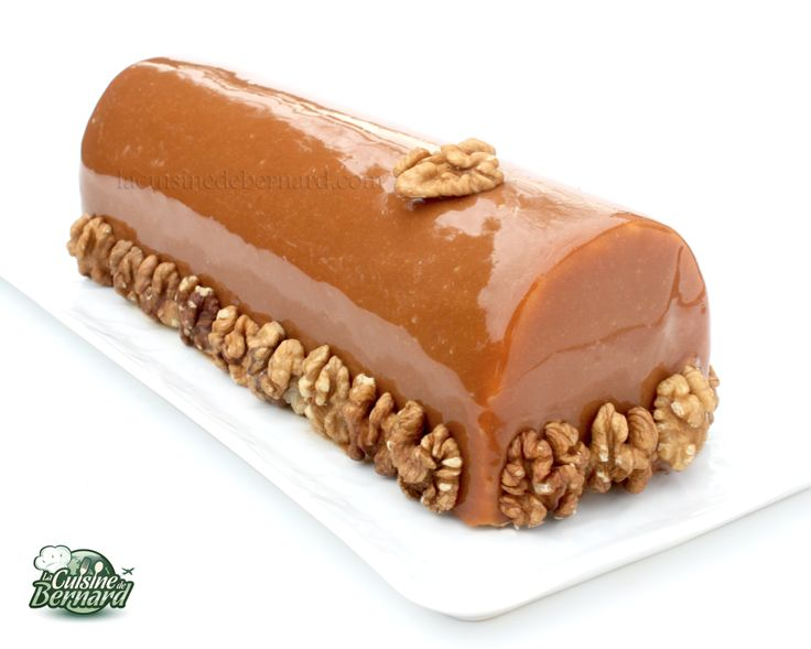 Bûche noix caramel chocolat