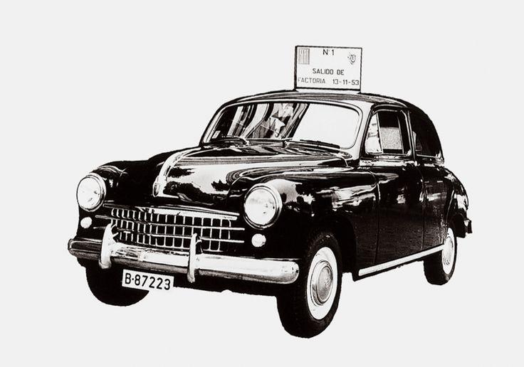 El 13 de noviembre de 1953 salió de la Zona Franca de Barcelona el primer vehículo fabricado por #SEAT: el 1400.  #Cars #Vintage #Spanish #Autos #Carros #Antiguos #Historia