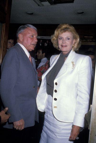 Frank Sinatra and Barbara Sinatra during Frank and Barbara Sinatra Sighting at Chasen's in Beverly Hills, July 19, 1989