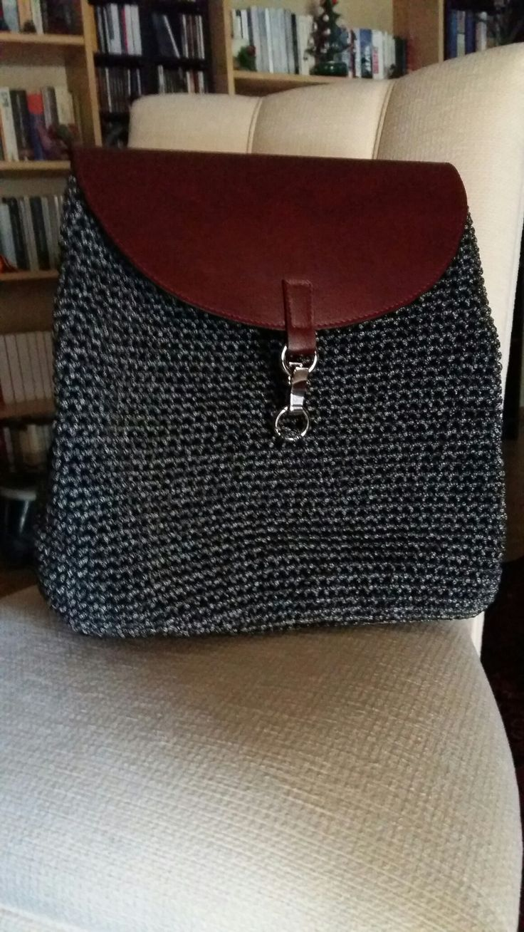 Crochet backpack