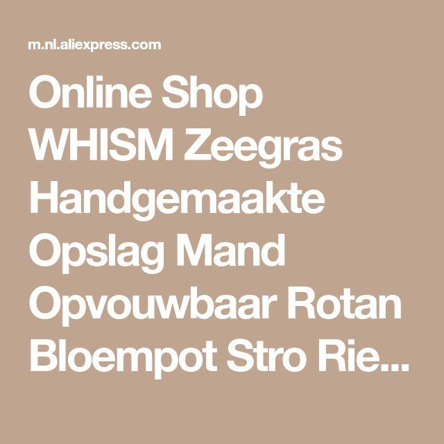 Online Shop WHISM Zeegras Handgemaakte Opslag Mand Opvouwbaar Rotan Bloempot Stro Rieten Buik Wasmand Wasmand Home Decor wasmand | Aliexpress Mobile