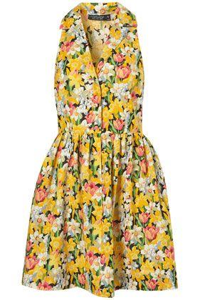 spring daffodil shirtdress via topshop