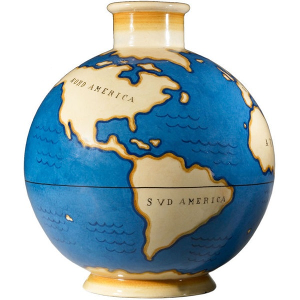 Wright Now - Gio Ponti for Richard Ginori - Geographica lamp base by Gio Ponti