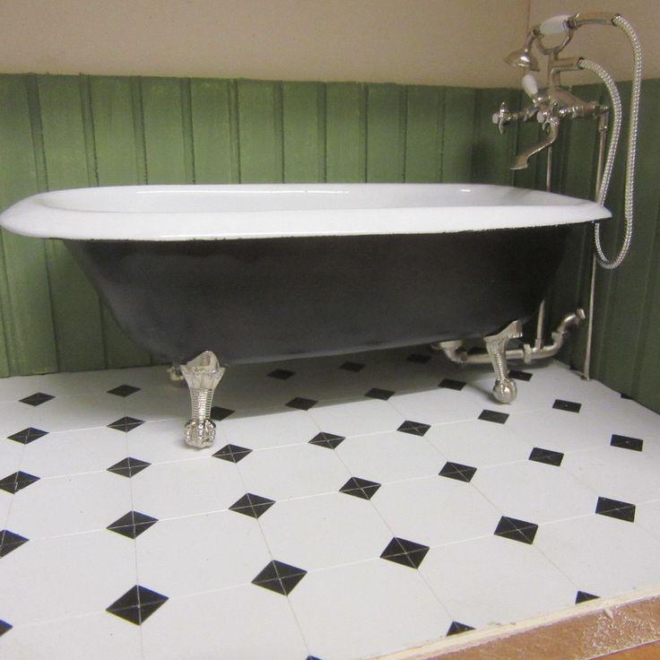 1/12 scale Dolls House Rolled top Bath Ready made Black LA 08 DHD | eBay