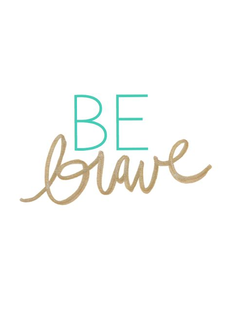 This is my resolution for 2014....to be brave in everything I do, not question and have the confidence to achieve anything I want for my life this year!