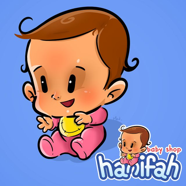 Baby character design by Made Wirawan   #baby #character #design #characterdesign #logo #cartoon