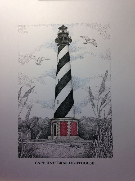 Lighthouse History   Books, Research, and Photos   Cape Fear Lighthouse Line Drawing