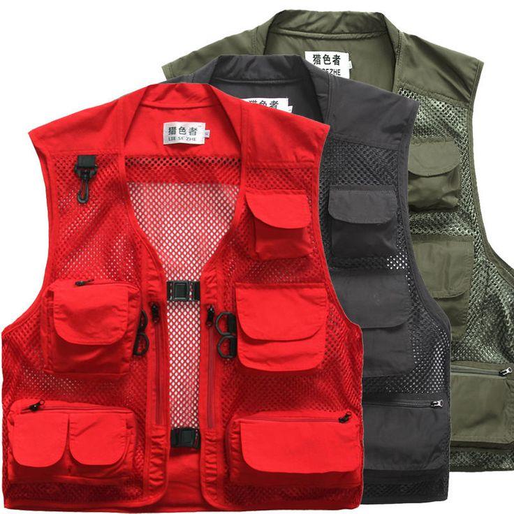 Men's Quick-Dry Multi-Pocket Travelers Fishing Photography Vest Outdoor Jacket 7 #Unbranded