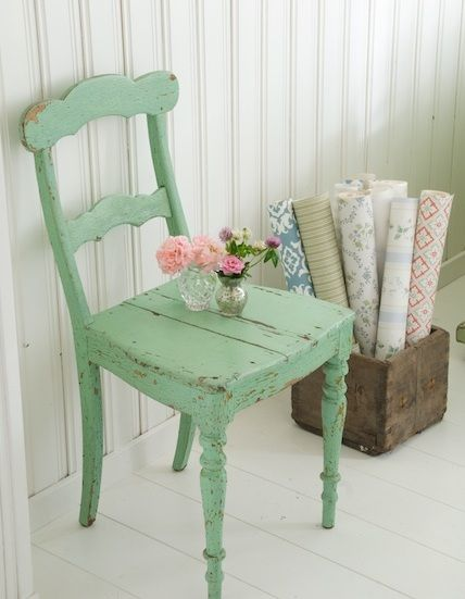 Google Image Result for http://matchmadeonhudson.com/wp-content/uploads/2012/06/Mint-Distressed-Wooden-Chair.jpg