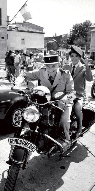 Louis de Funès et une gendarmette...