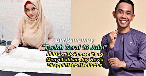 Ini Bukti Dokumen Menyebabkan Joy Revfa Diragui Hafiz Hamiudun Belum Cerai Dengan Suami Lama Ketika Bernikah   Ini Bukti Dokumen Menyebabkan Joy Revfa Diragui Hafiz Hamiudun  Portal My News Nation Malaysia mempunyai satu laporan eksklusif mengenai dokumen perceraian perkahwinan Joy Revfa dengan suami sebelum ini bernama Dato Ray. Berdasarkan satu dokumen status Siti Arifah sebagai isteri orang masih lagi sah ketika dia bernikah dengan Hafiz Hamidun pada 1 Mei lalu. Dokumen menujukkan…