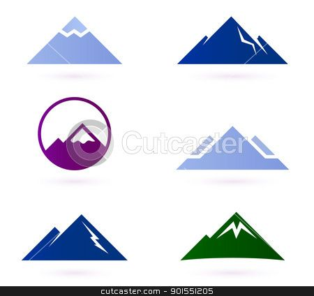 Mountain clipart triangle - Pencil and in color mountain clipart ...