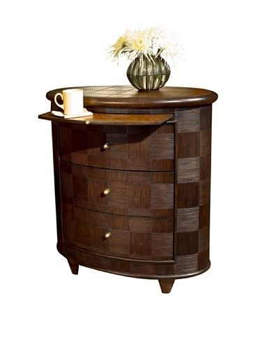 """Butler Specialty 0495035 Oval Side Chest End Table, Designer's by Butler Specialty Company. $619.00. No assembly required. Oval side chest. Weight: 64 lbs. Designer's edge finish. Dimensions: 30""""W x 18""""D x 32""""H. ."""