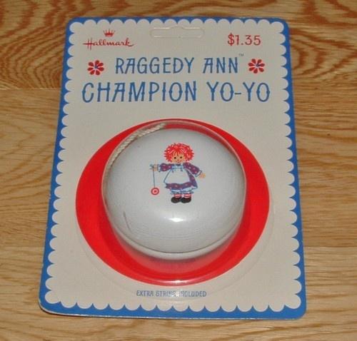 Raggedy Ann Champion Yo Yo 1974 Hallmark Raggedy Ann