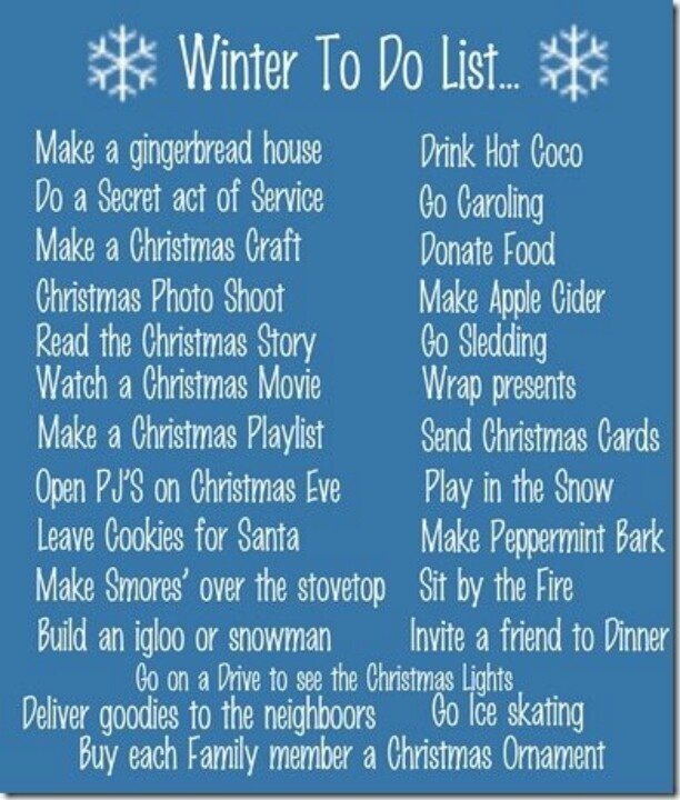 Christmas Bucket List - 152 days!! I can't wait til November rolls around and it's acceptable to start these!! Best time of year!