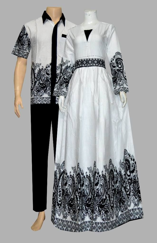 Jual Couple Gamis Batik Modern Anisa D1906