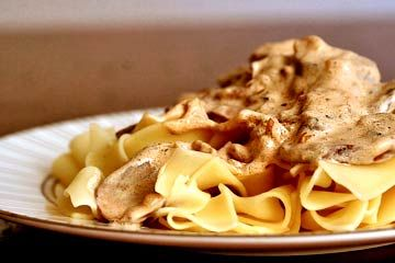 Beef Stroganoff! Russian food for Mother's Day. Very hearty. Bring out the vodka and enjoy!