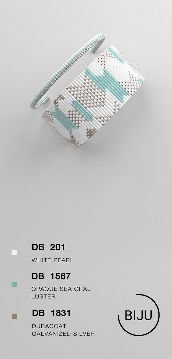 Loom bracelet pattern, loom pattern, miyuki pattern, square stitch pattern, pdf file, pdf pattern, c