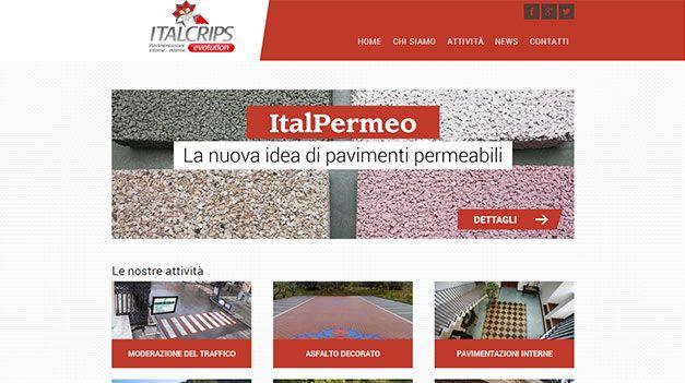 Realizzazione dei contenuti per il sito http://www.italcrips.it