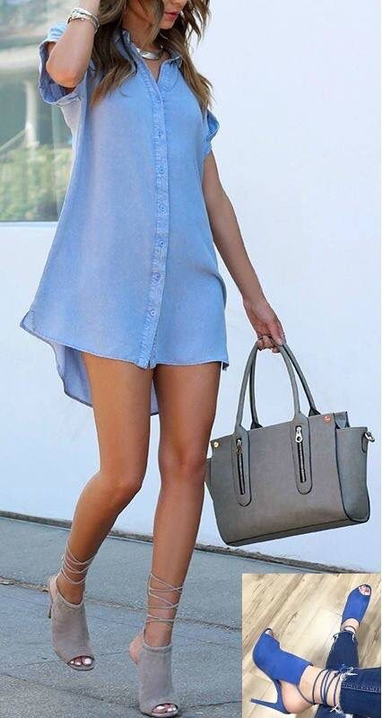 Summer outfit! Love it! #dolcettoshoes #shoes #fashion #trends #fashionista #highheels #shopping #summer #outfit