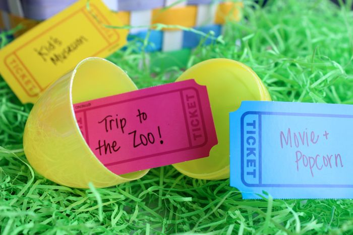 Tickets For Easter Egg Fillers Holiday Easter Tutorials